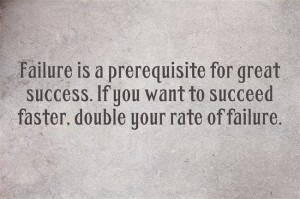 Failure, success, failure leads to success,