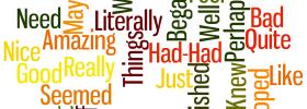 weak words, writing, blogging,